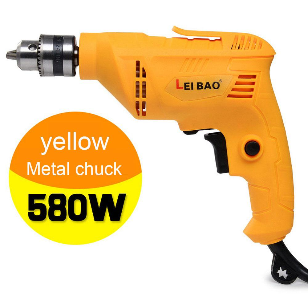 220v Electric Drill Hammer Drill Impact 580W Multi-functionHousehold Adjustable Speed Woodworking Power Tool
