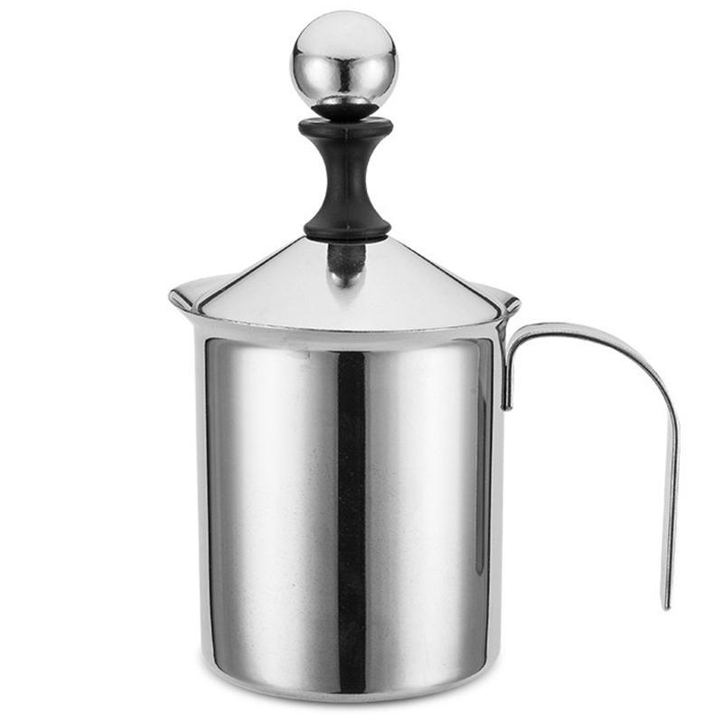 Manuale Latte Stampa francese Caffettiera in acciaio inox pompa a mano Milk Foamer Brocca palmare