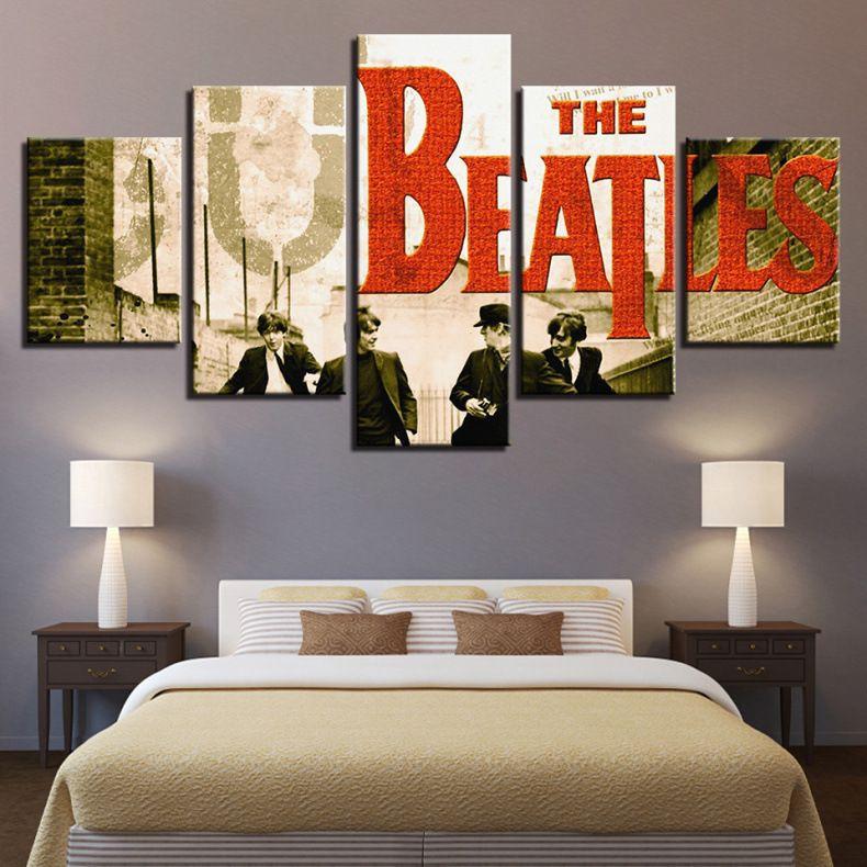 Oil Painting HD Printed Home Wall Decor Art on Canvas John Lennon 5PCS