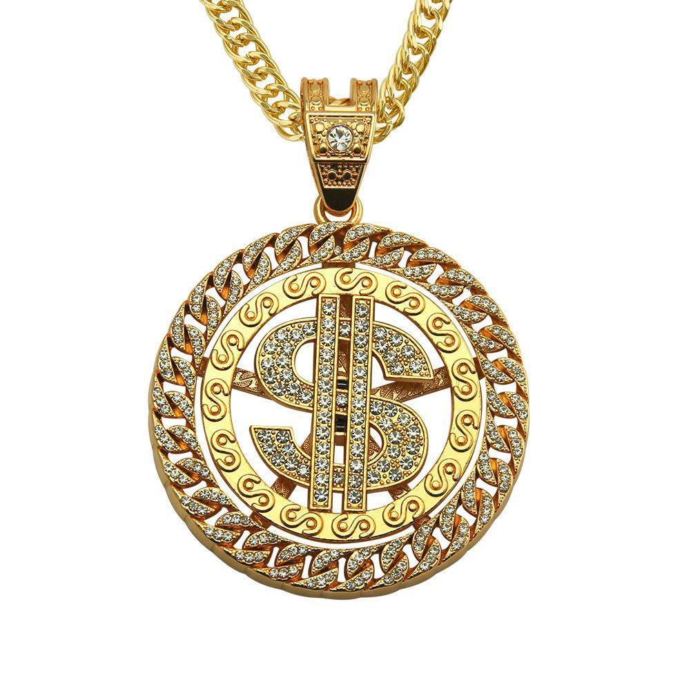 2020 Esplosioni Designer esagera europei e americani moda maschile onda Prepotente Hip-hop Hip-hop gioielli collana ciondolo di diamanti