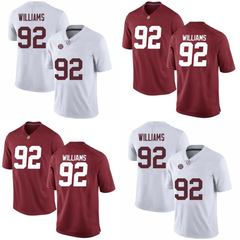 NCAA #92 Quinnen Williams Jersey Mens Lady Youth Alabama Crimson Tide Quinnen Williams 100% Stitched College Football Jerseys Red White