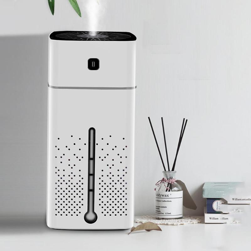 1000 mL Mini Hava Nemlendirici Su Küpü LED Ultrasonik Aromaterapi Uçucu Yağı Yayıcı USB Atomizer Ev Aletleri