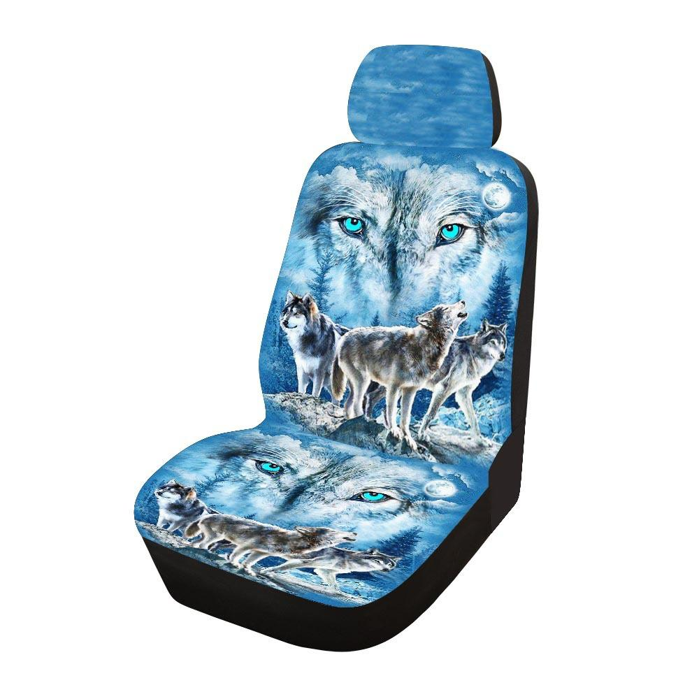 Universal Car Seat Cover front Seat Covers printing fabric Custom Auto Interior Car Accessories Car Care Seat Protector F-11