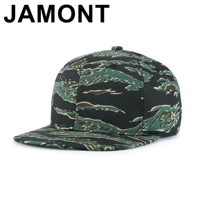 Jamont Camouflage Snapback Cap blanc plat Camo Casquette unisexe Hip Hop Casquettes Hommes Femmes tactiques Coton Chapeaux réglable Gorras