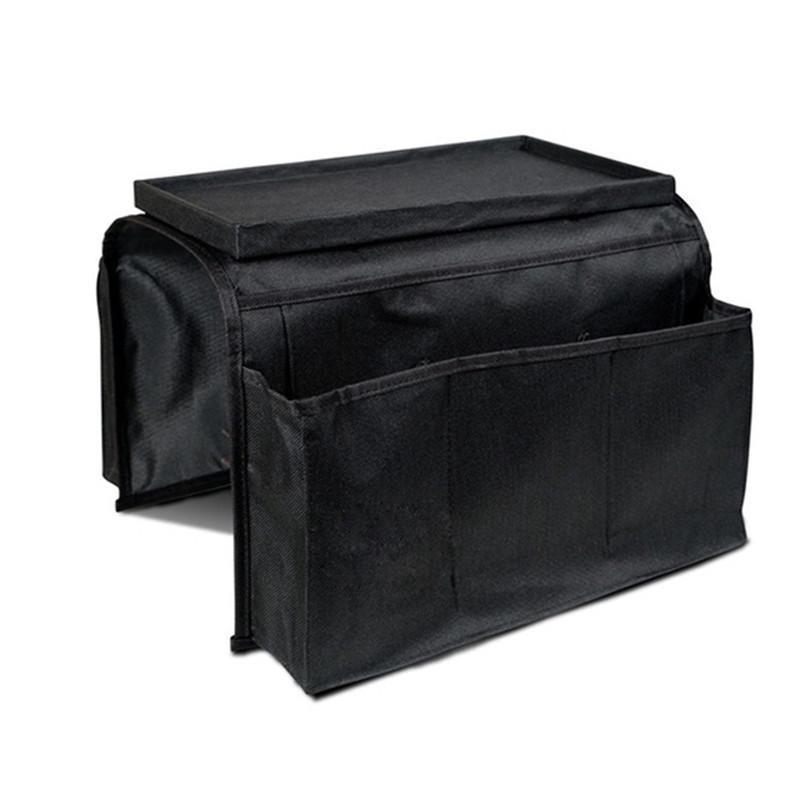 6 bolsillos Sofá Baranda bolsas de almacenamiento Couch Apoyabrazos Apoyabrazos Organizador de control remoto sostenedor del bolso Organizador limpieza GI885021