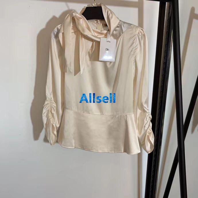 high end women girls shirts silk style turtle neck bow tops long sleeve blouse zip tee milan runway vintage fashion design custom luxury