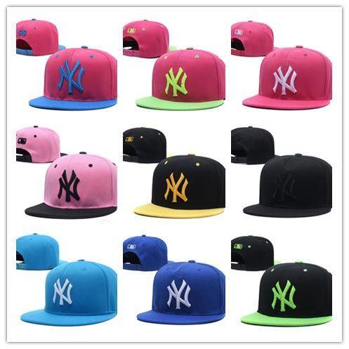 Топ Дизайн нью-йорк Вышивка Письмо Шляпы Солнца Регулируемая Snapback Хип-Хоп Танцевальная Шляпа Лето Открытый Мужчины Женщины