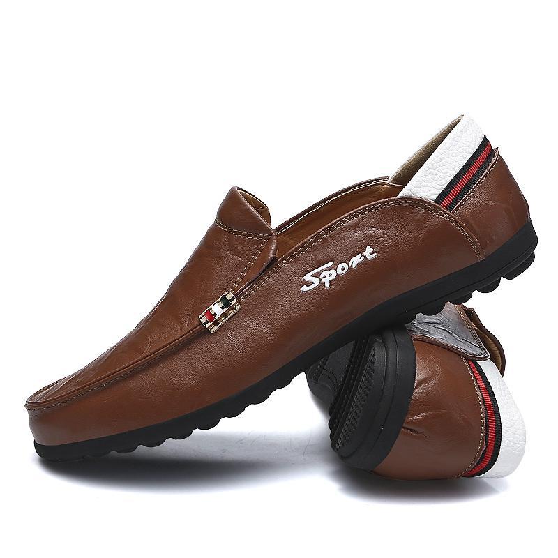 Uomini Mocassini Nuovo Mens Mocassini Moda scarpe fatte a mano mocassini soft slip in pelle su Scarpe da barca Scarpe Nero Marrone guida