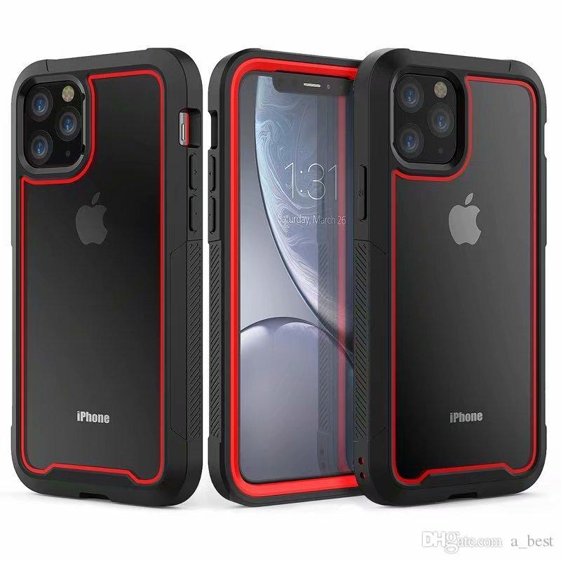 Telefono Caso Two Tone per iPhone Pro 11 MAX XS XR X 8 7 6 6S Plus Anti-caduta acrilico copertura posteriore dura del PC