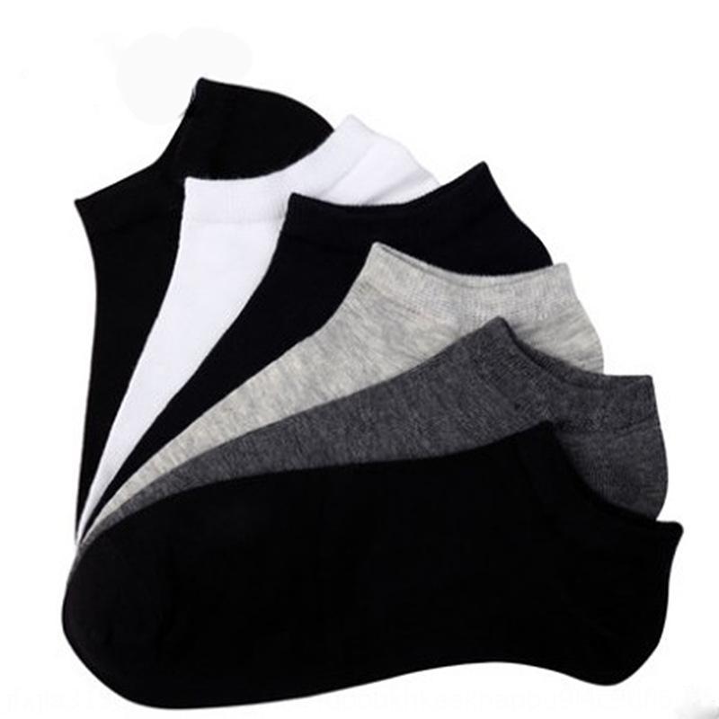 cor sólida meias barco barco Four Seasons respirável rasa do algodão dos homens Esportes meias masculinas de algodão