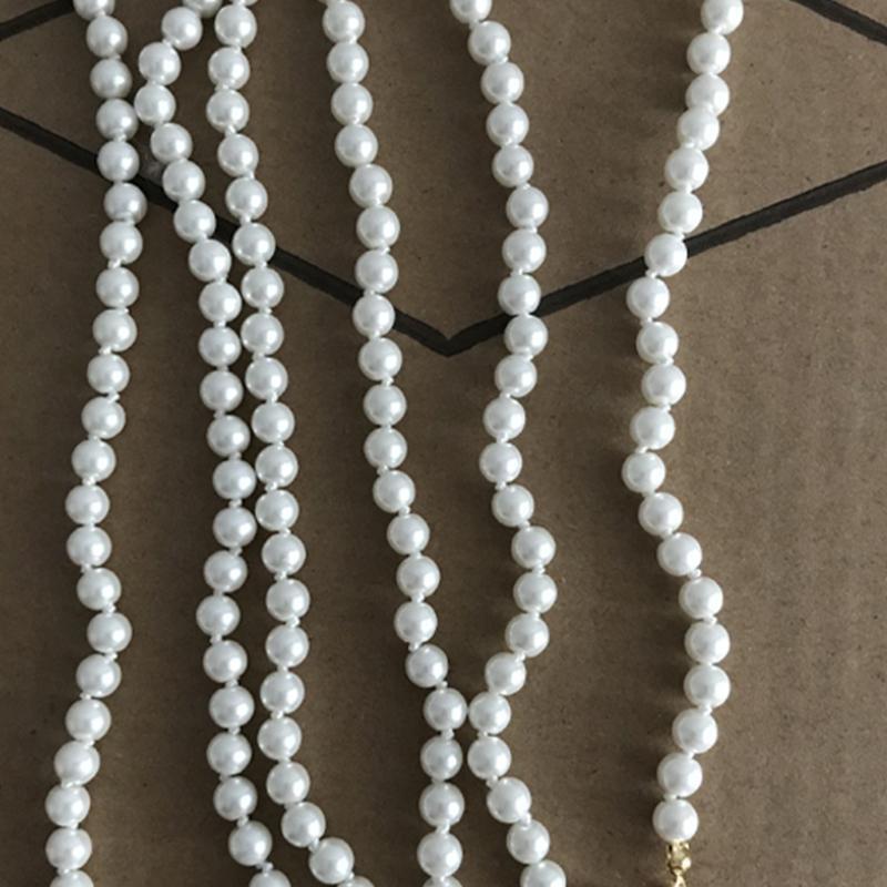 Горячий продавать Rhinestone ожерелье Многоцветный Женщины Pearl цепи ожерелье ювелирные изделия высокого качества Аксессуары для подарка партии