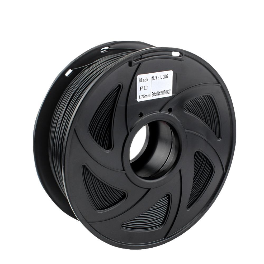 Freeshipping премиум качество PC накаливания для 3D-принтер поликарбонат Filamento сильный термопластичный термостойкость черный