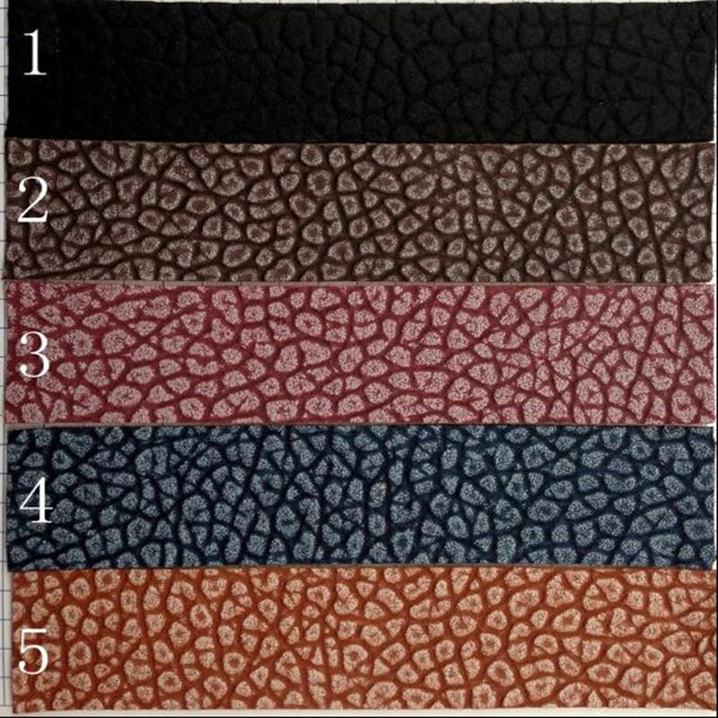 1.2mm Double color matte litchi pattern Leather pu fabric Flexible trousers jacket Costume diy home textiles fabric one yard sofa D135