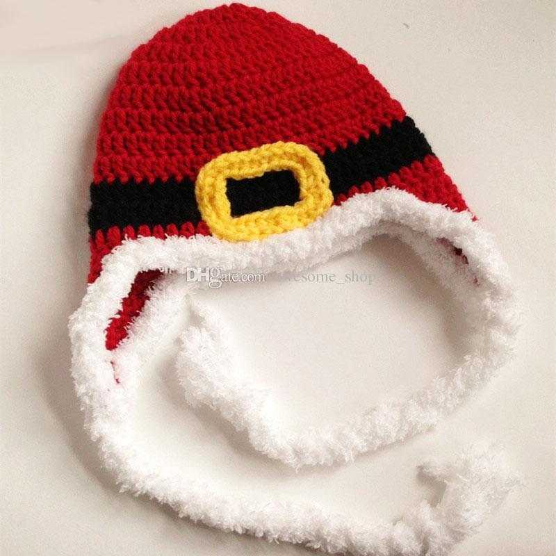 Adorable Santa Elf Hat,Handmade Knit Crochet Baby Boy Girl Christmas Hat,Kids Winter Cap,Infant Newborn Photo Prop