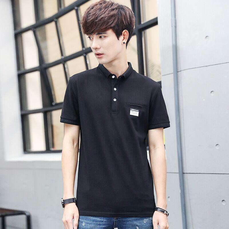 Slim fit 2020 della camicia degli uomini di alta qualità manica corta polo shirts zip tasca vestiti mens pol vestono poloshirt streetwear