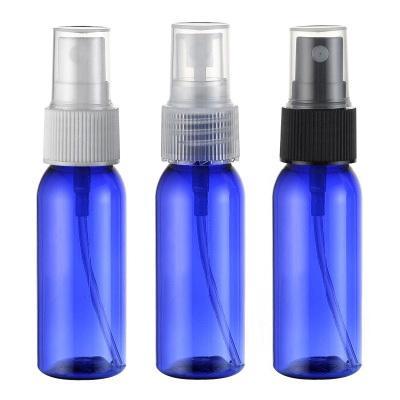 kozmetik ambalaj için 30 ml mavi renk püskürtme pompası seyahat PET şişe, sıvı ilaç 50pc / lot için 1 onzluk plastik boş şişeler