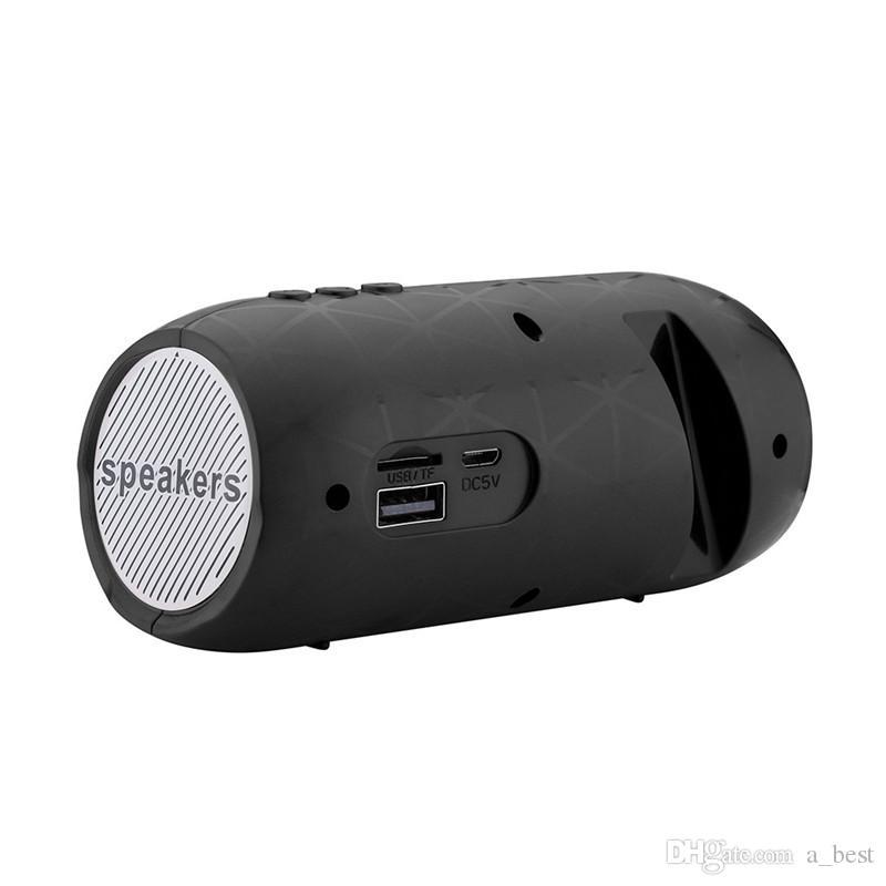 Altavoz USB TF FM mini altavoz inalámbrico Bluetooth con soporte para el iPhone 7 8 Samsung estéreo de altavoces al aire libre altavoces portátiles
