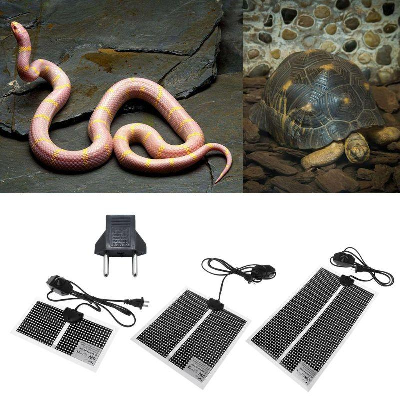 Pet Reptile calor Mat Turtle Lizard Substrato constante Warmer Waterproof Bed 220V 6W / 9W / 13W Pet Mat Calor