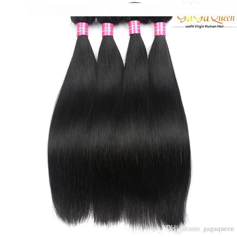 D 8a visone brasiliana capelli lisci Fasci di colore 1b 2 4 brasiliani del Virgin Capelli lisci peruviano malesi umani indiani tessuto dei capelli Extens