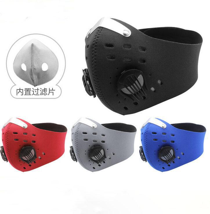 10Pcs Cycling Face Sport Training Mask PM2.5 Anti-pollution Running Mask Activated Carbon Filter Washable Mask