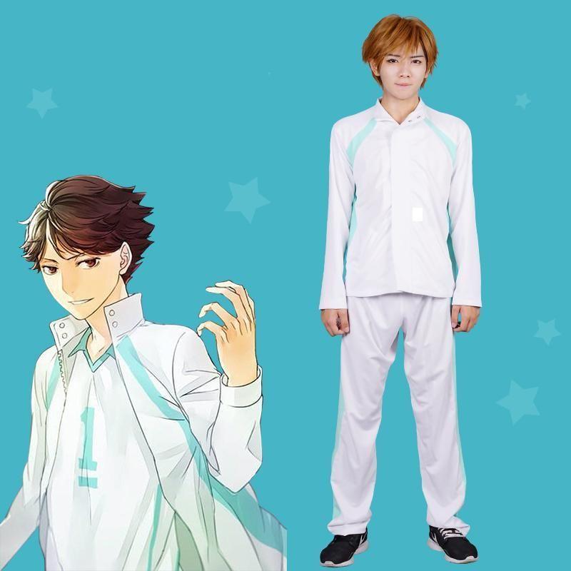 High-Q Unisex Anime Cos Haikyuu!! Oikawa Tooru Short sleeved jacket coat Outerwear Coats