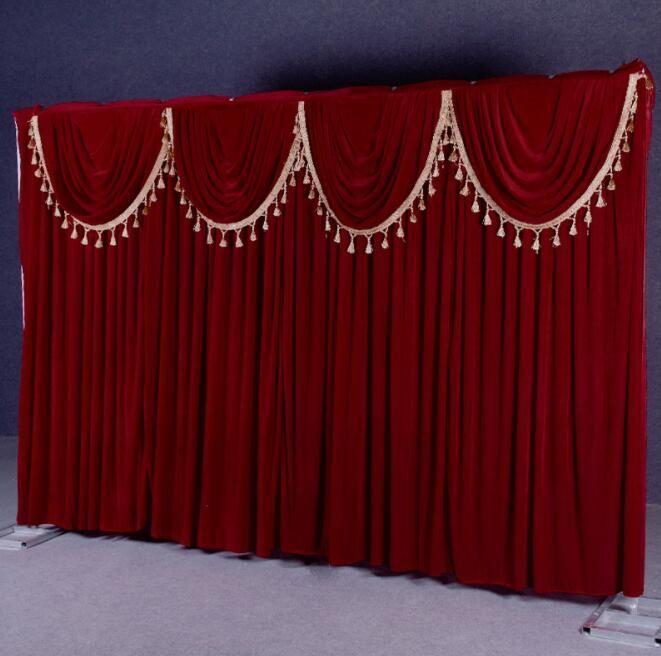 Basit stil 3m * 4m düğün arka kadife malzeme düğün arka plan parti malzemeleri sahne arka plan özelleştirme düğün süslemeleri