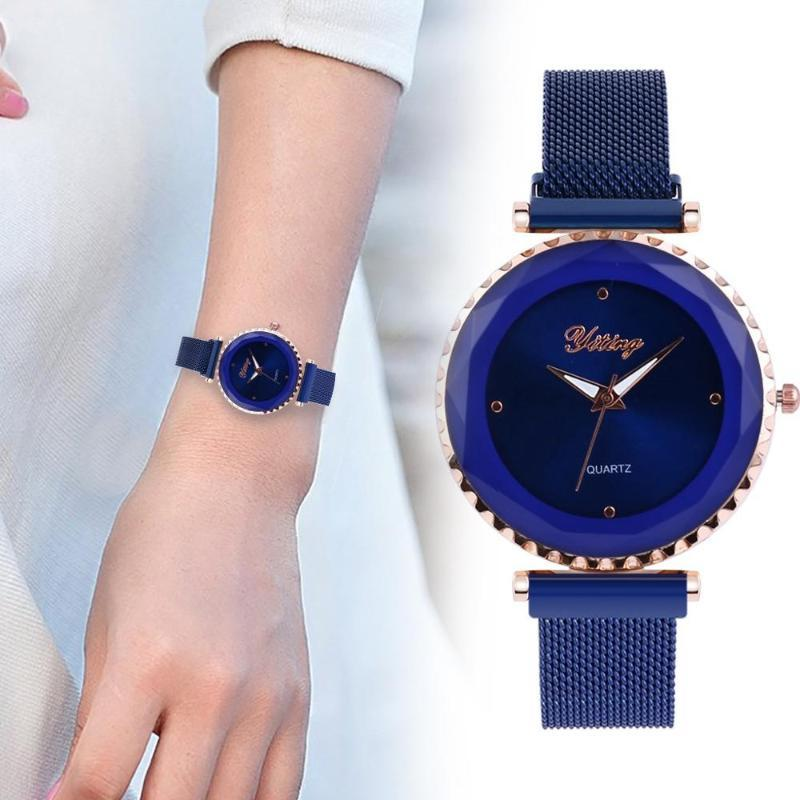 Простые женщины часы из нержавеющей стали браслет кварцевые Женские часы Женский Леди Мода Часы Часы наручные Часы # W