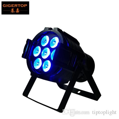 Freeshipping 7x12W RGBW Alumínio Led Par Luz Silenciosa Cooling Fan Mini Stage Led Par 32 Mistura Projector 3 pinos DMX IN / OUT RGBW 4 cores