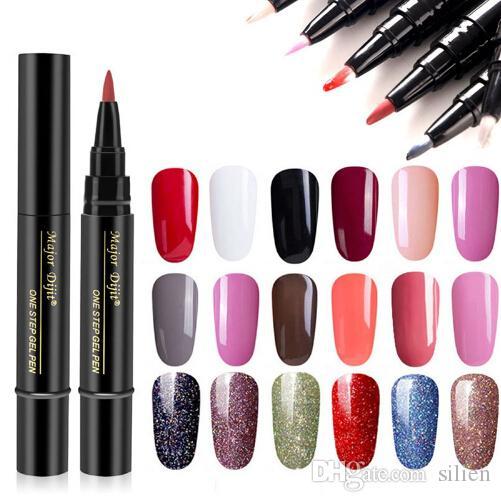 Date 3 En 1 Gel Vernis À Ongles Stylo Glitter One Step Gel Vernis À Ongles Hybride 24 Couleurs Facile à Utiliser Gel UV Laque