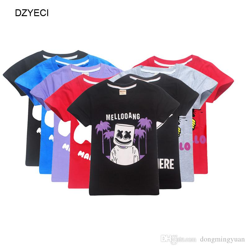 Fashion Kids Boys Girls DJ Marshmello DJ Music T Shirt Top 6-12 Years