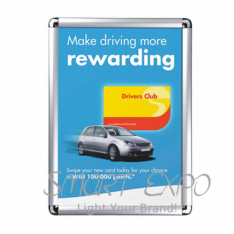 B1 Snap Frame Cheap Wall Mounted Picture Frame Menu Board Poster Frame With 25mm Round Or Mitered Corner Customized Sizes