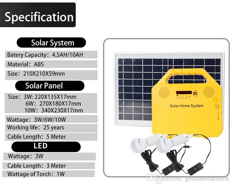Avec Solaire Panneau Générateur Portable Lampes Led Acheter ÉlectriquePetit Solaire2 Jeux De InclusOnduleur vmN8n0w