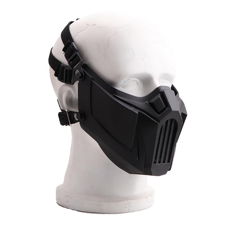 Halbe Gesichtsmaske Weiche abnehmbare Breath Resistant Mundschutz Sport Zubehör