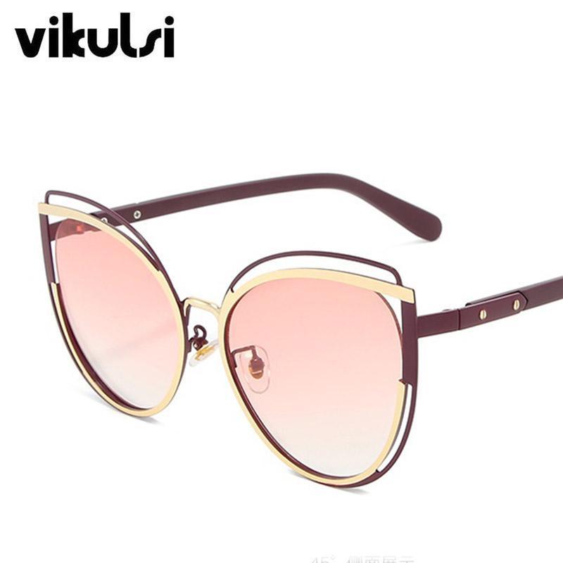 Retro italiano na moda delicadamente novo gato óculos de sol olho uv400 gradient vintage para óculos metal mulheres solyewear 2020 ltmpw