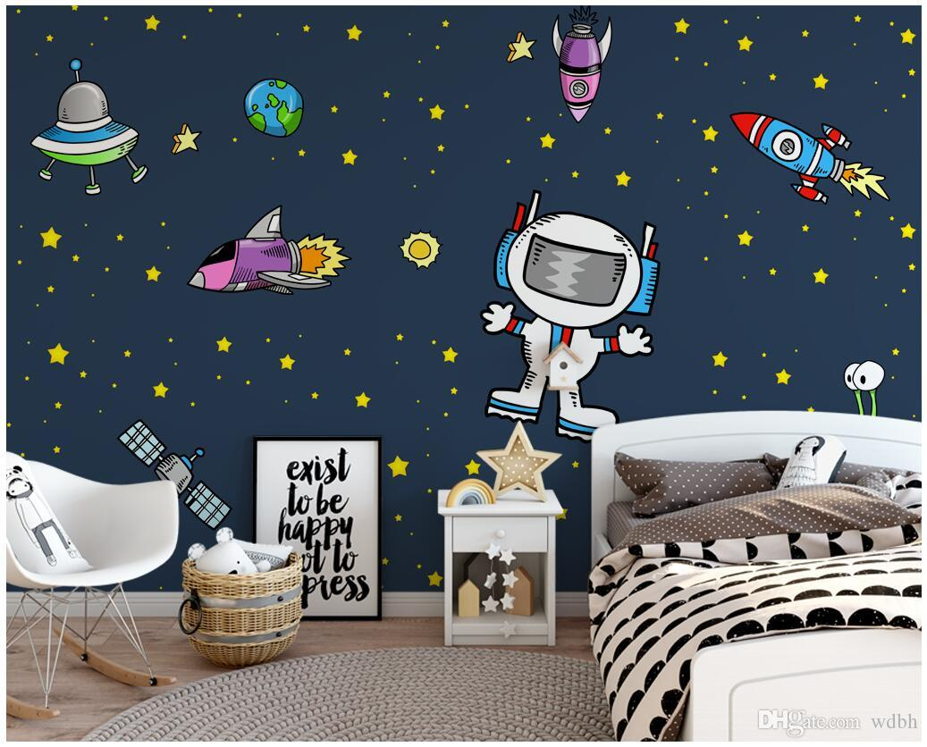 3d Wallpaper Custom Photo Mural Cartoon Space Universe Science