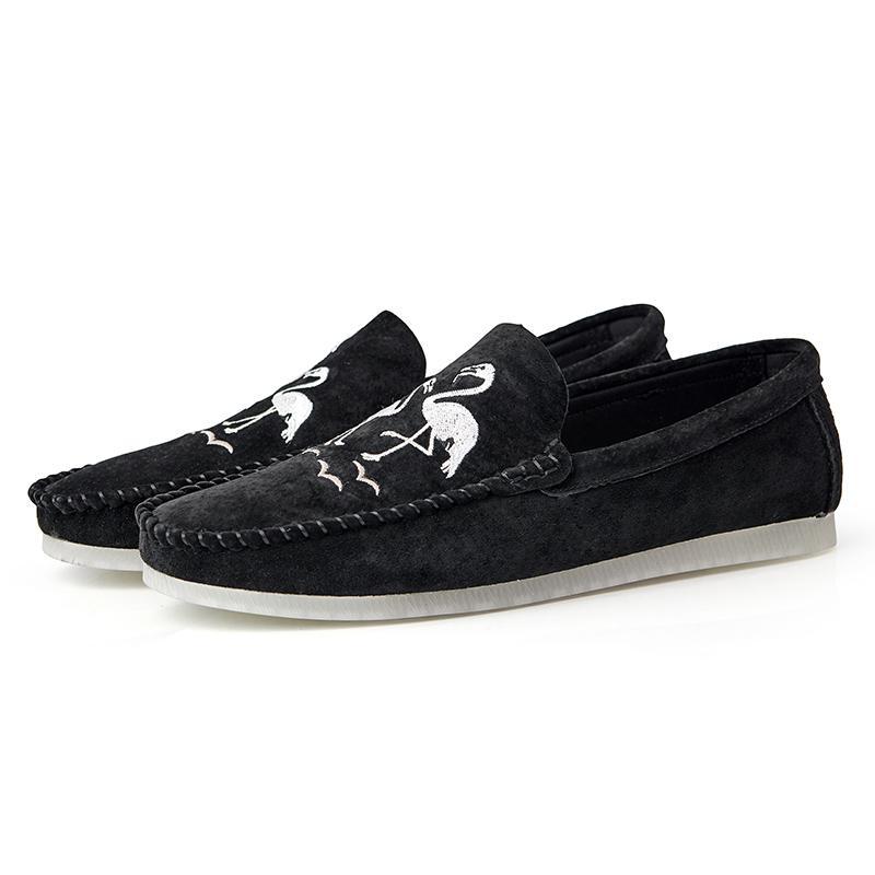 İlkbahar Yaz YENİ Erkekler loafer'lar Rahat Düz tasarımcı rahat ayakkabı erkekler Nefes Kayma-On Yumuşak Deri Sürüş Ayakkabı Makosenler