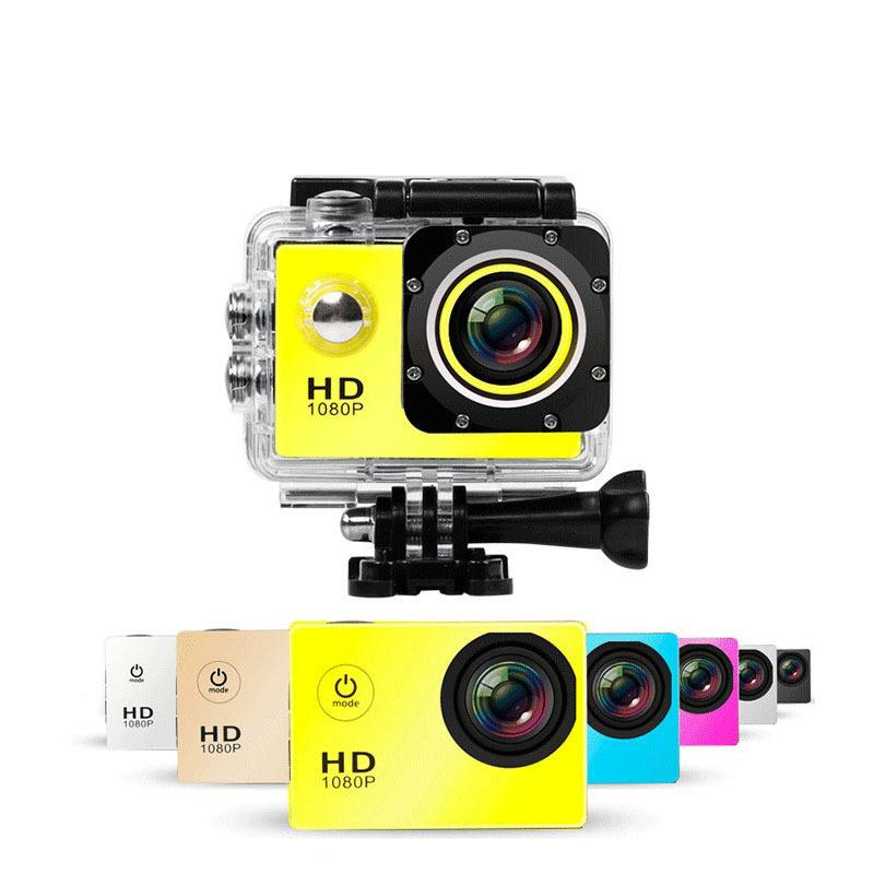 5pcs 480P-1080P Full HD Action Digital Sport Camera 2 Inch Screen Under Waterproof 30M DV Recording Mini Sking Bicycle Photo Video Cam