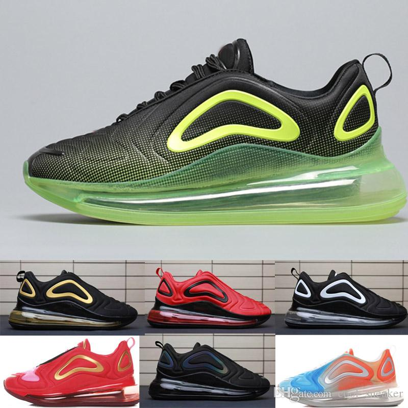 Compre Nike 720 Air Max Airmax 2019 Nuevos Zapatos Deportivos 72C Summer  Black Mesh Respirar Entrenador Diseñador Para Hombre Zapatillas Zapatillas  De ...