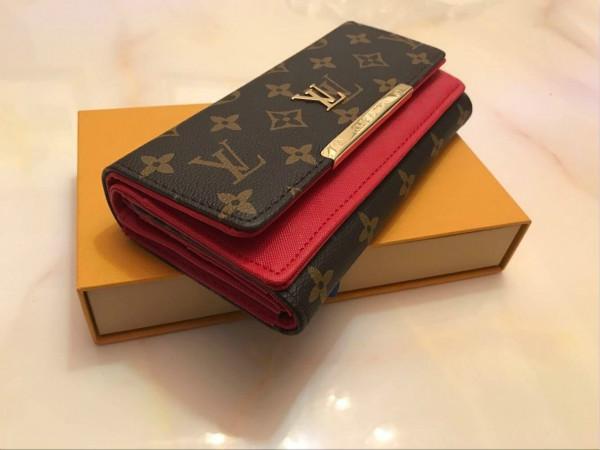 libera shpping inferiori rosse del supporto all'ingrosso della carta lunga del raccoglitore della signora multicolore portamonete box donne originali classica cerniera pocket7