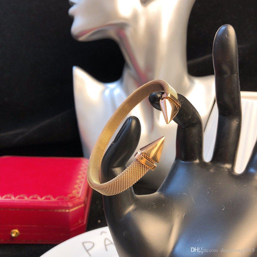 Takı bilezik zincirlerinin küpe kolye yüzük mens dışarı buzlu 14k altın zincirleri Küba bağlantı zinciri juste un clou bilezik 18K altın