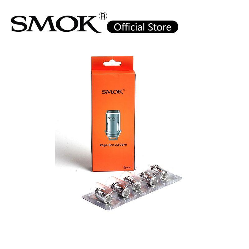 SMOK Vape Pen 22 Bobina testa 0.3ohm 0.25ohm Stricp Mesh Bobina Vape Pen X4 Core Bobine di ricambio per Vape Pen 22 Kit Plus Kit 100% originale