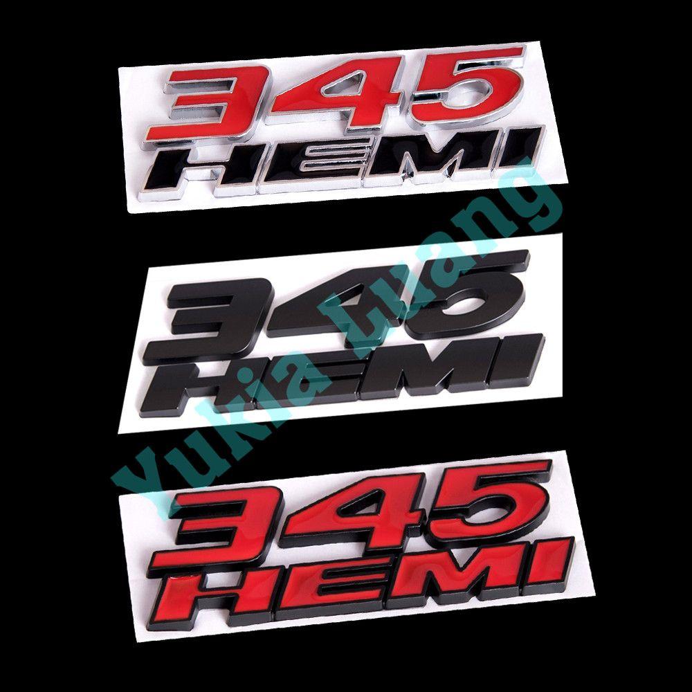 Красный черный 345 HEMI Mopar OEM тела крыло эмблема для Ram зарядное устройство Challenger 300C