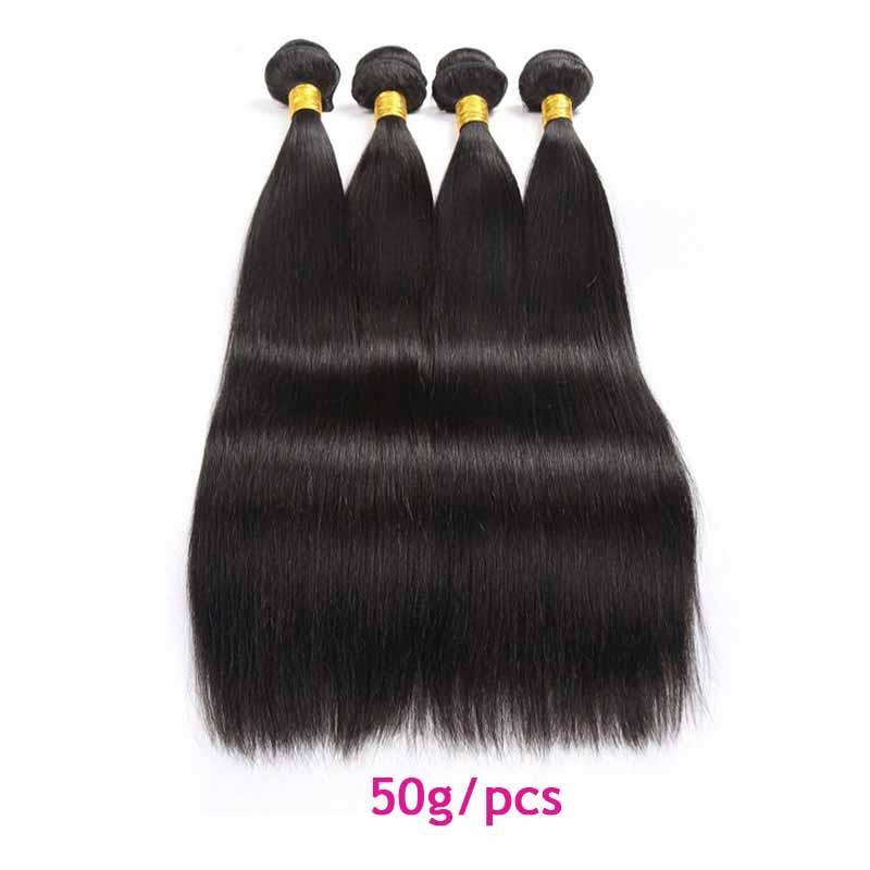 Cheveux humains brésiliens tisse 5/6 paquets lot 50g / pcs droites extensions de trames brésiliennes de cheveux vierges pour femmes noires