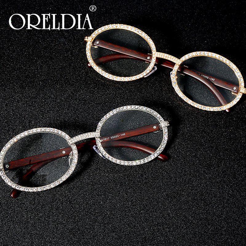 Rodada Vintage Cubic Zircon Sunglasses Men Novo Luxo Mulheres Oval Diamante Óculos Moda Hip Hop Eyewear UV400 gafas de sol mujer MX200527