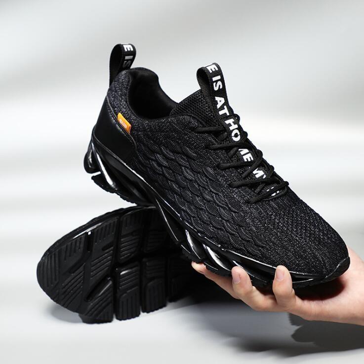 2019 Yeni erkek Blade Tasarımcı Sneaker Avrupa ve Amerika Eğilim Rahat Koşu Ayakkabıları Erkekler Sönümleme kaymaz Örgü Nefes Spor Spor Ayakkabı