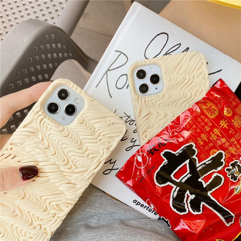 cassa del telefono noodle designer creativo spoof personalità istantanea per iPhone Pro 11 11promax XS MAX 78P 6S Plus X XR cassa all'ingrosso protettiva