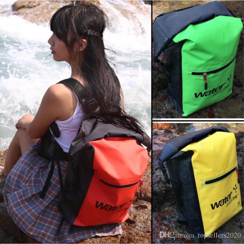 25L impermeável ao ar livre Piscina Mochila Bucket Dry Sack Storage Bag Rafting Sports Caiaque Canoagem viagem Waterproof Bag
