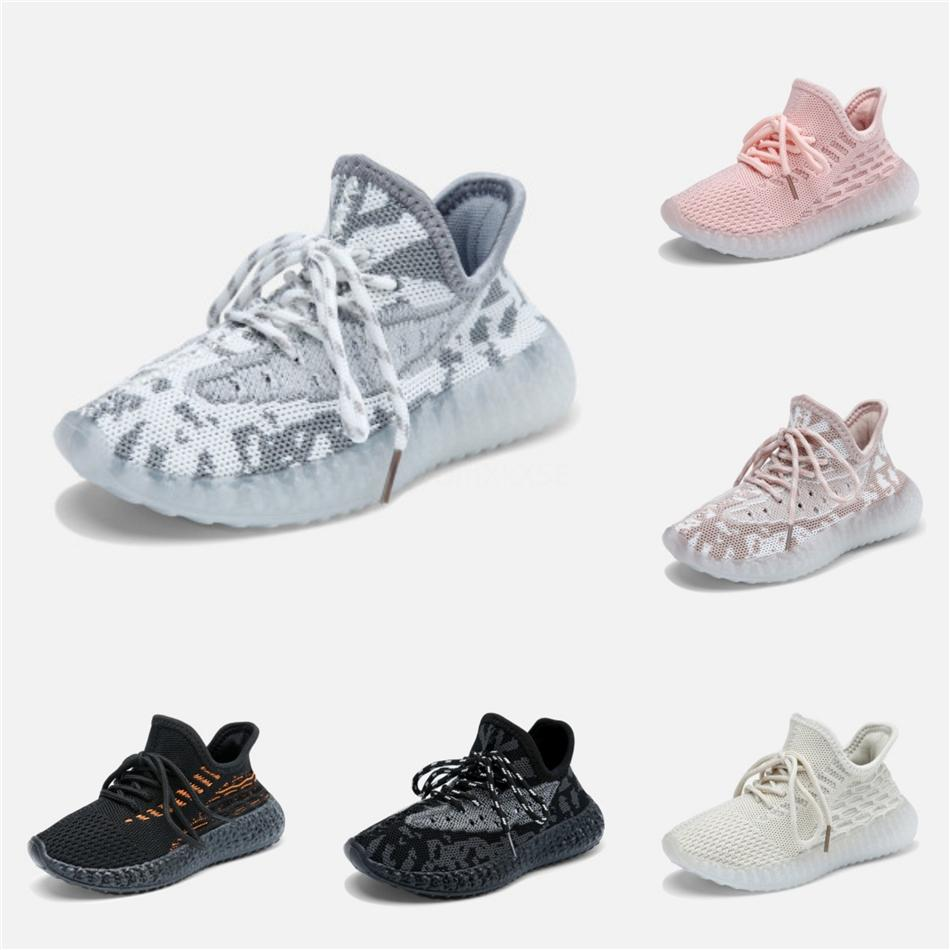 Niños Kanye West de los zapatos corrientes V2 niños zapatos atléticos Niño Niña Beluga 2.0 zapatillas Negro Rojo 26-35 # 788