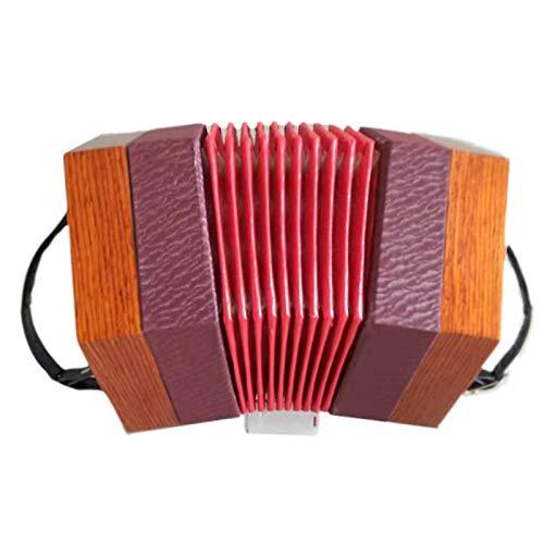 Akordiyon 30 düğmeli diyatonik ahşap akordeon