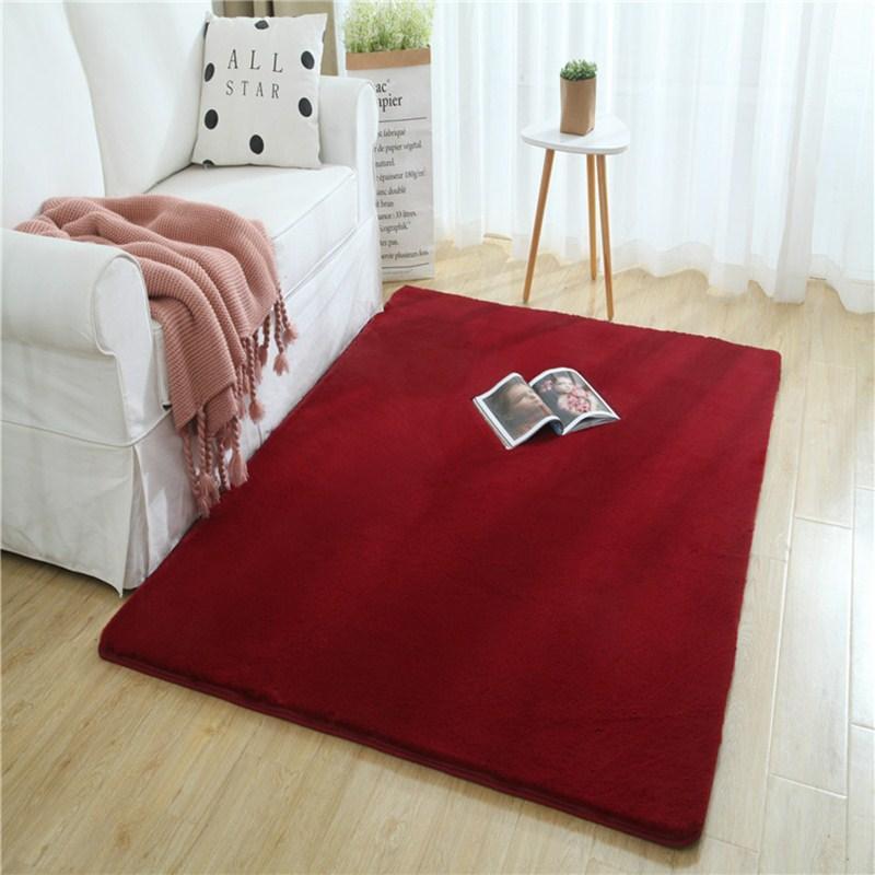 chambre Encrypted salon imitation épais tapis de fourrure couleur unie doux duvet étage maison chevet enfants tapis tapis